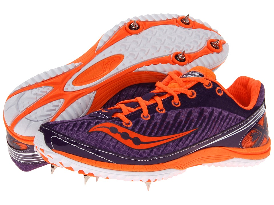 Saucony - Kilkenny XC5 Spike W (Purple/Vizipro Orange) Women's Running Shoes