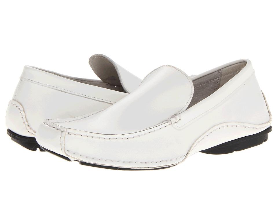 Steve Madden - Novo (White Leather) Men's Slip on Shoes