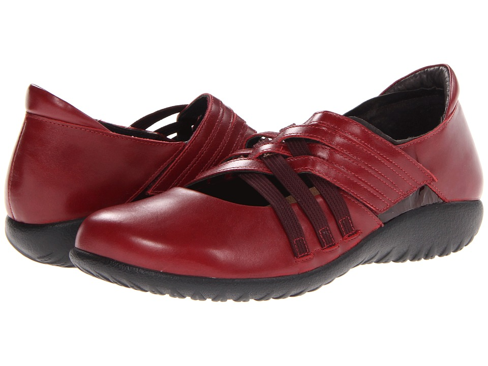 Naot Kawaka (Rumba Leather/Wine Patent Leather) Women