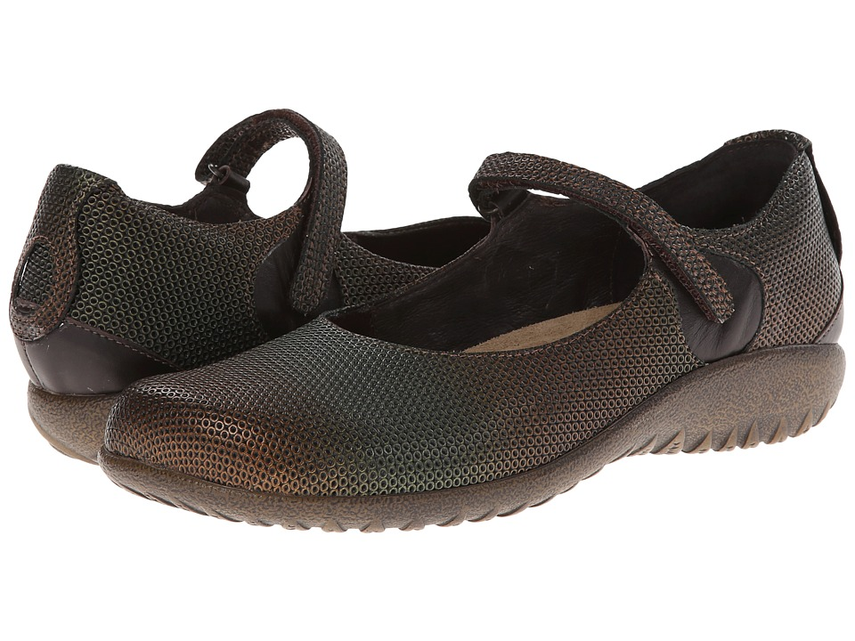 Naot Footwear - Reka (Rattlesnake Brown Leather/French Roast Leather) Women's Maryjane Shoes