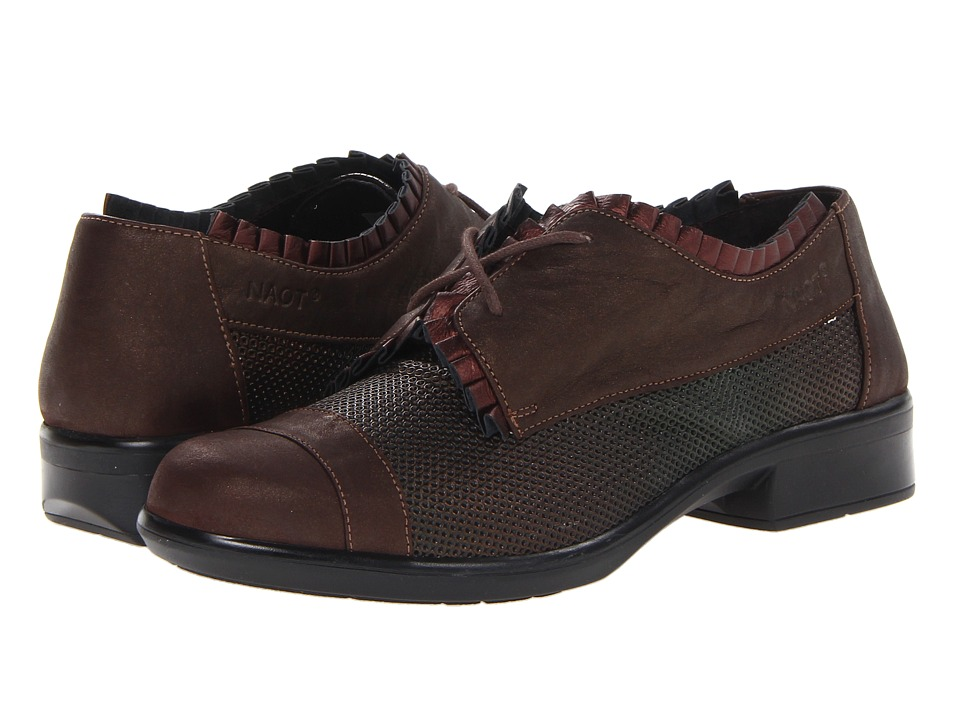 Naot Footwear - Yama (Rattlesnake Brown Leather/Brown Shimmer Nubuck) Women's Lace up casual Shoes
