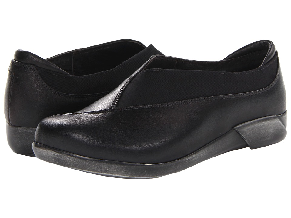 Naot Footwear - Montage (Black Raven Leather/Black Stretch) Women's Shoes