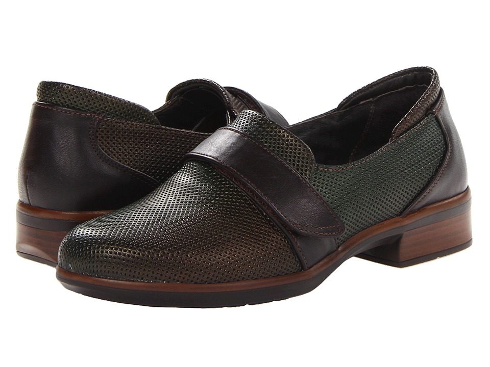 Naot Footwear - Wind (Rattlesnake Brown Leather/French Roast Leather) Women's Shoes