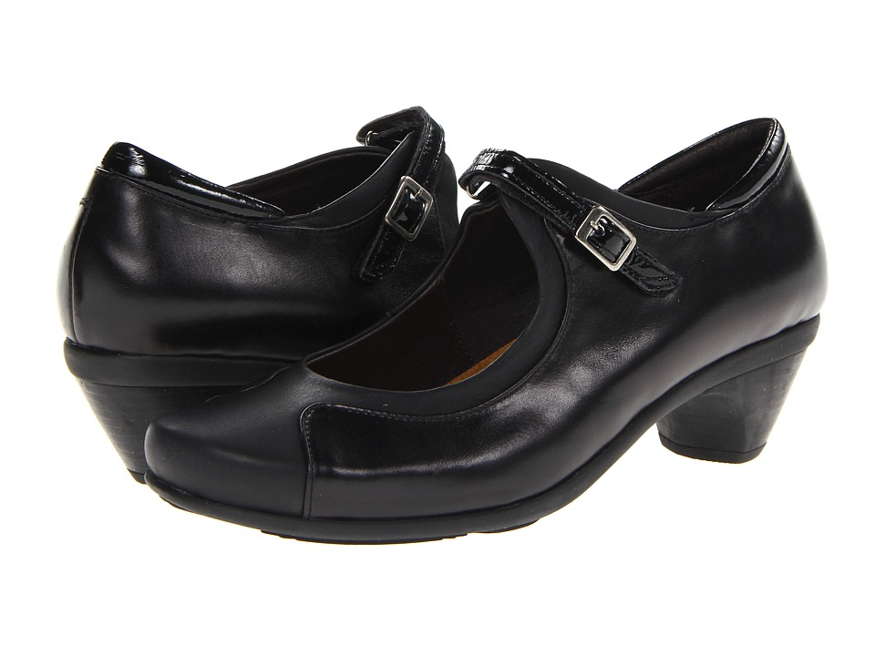 Naot Footwear - Cardinal (Black Madras Leather/Jet Black Leather/Black Crinkle Patent Leat) Women