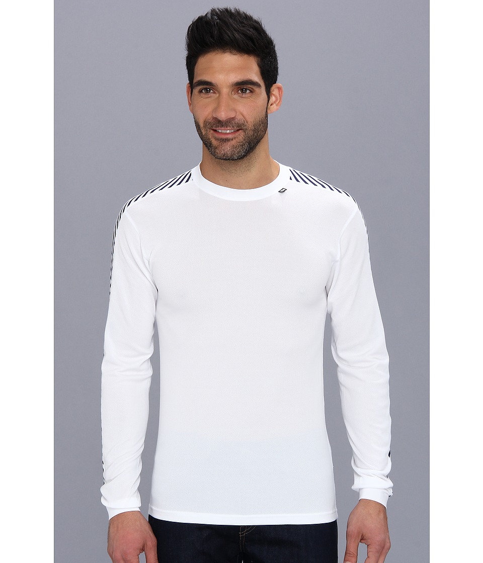 Helly Hansen - HH Dry Stripe Crew (White) Boy's Long Sleeve Pullover