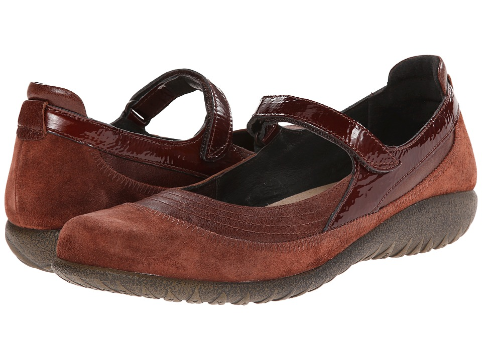 Naot Footwear - Kirei (Luggage Brown Leather/Rust Suede/Brown Patent Leather) Women's Maryjane Shoes