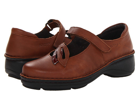 Naot Footwear - Primrose (Cinnamon Leather/Brown Patent Leather) Women