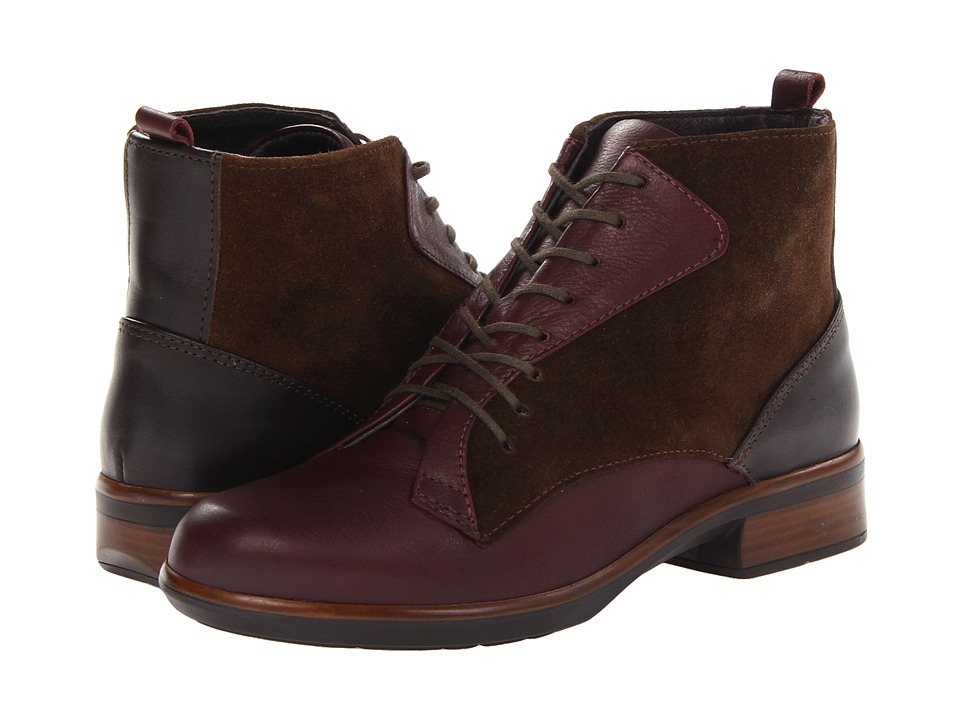 Naot Footwear - Mistral (Shiraz Leather/Hash Suede/French Roast Leather) Women's Boots