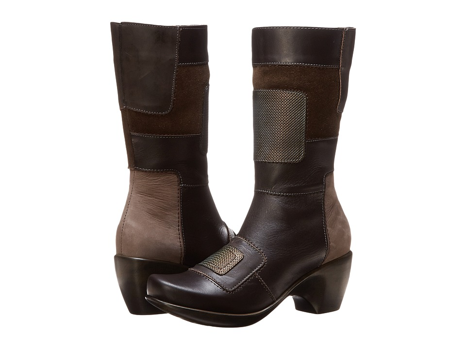 Naot Footwear Paradise (French Roast Leather/Dark Sienna Leather/Hash Suede/Rattlesnake) Women