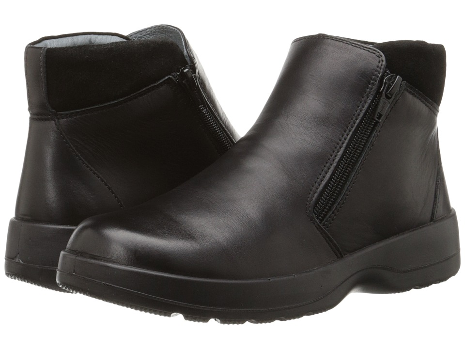 Naot Footwear - Lynx (Black Raven Leather/Black Suede) Women's Zip Boots