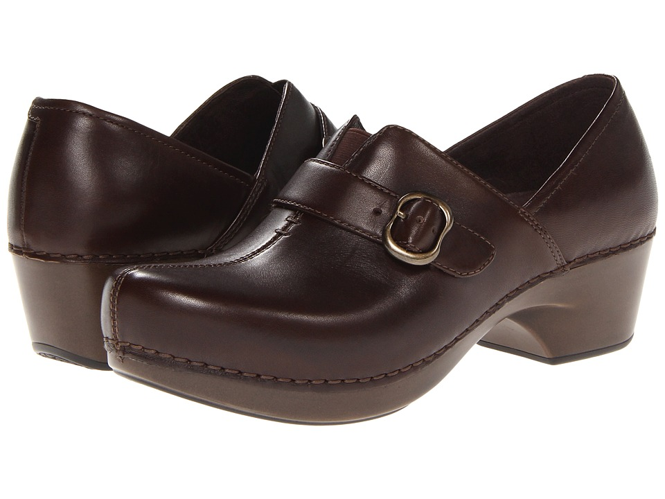 Dansko - Tamara (Chocolate Burnished Full Grain) Women's Clog Shoes