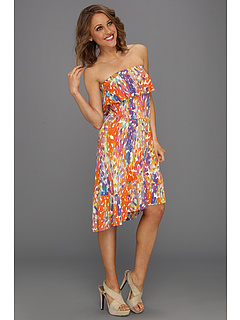 SALE! $59.99 - Save $138 on Three Dots Sorbet Mosiac Print High Low Spring Dress (Multi) Apparel - 69.70% OFF $198.00