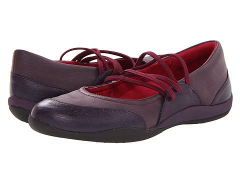 VIONIC with Orthaheel Technology - Melanie Elastic Flat (Purple) Women