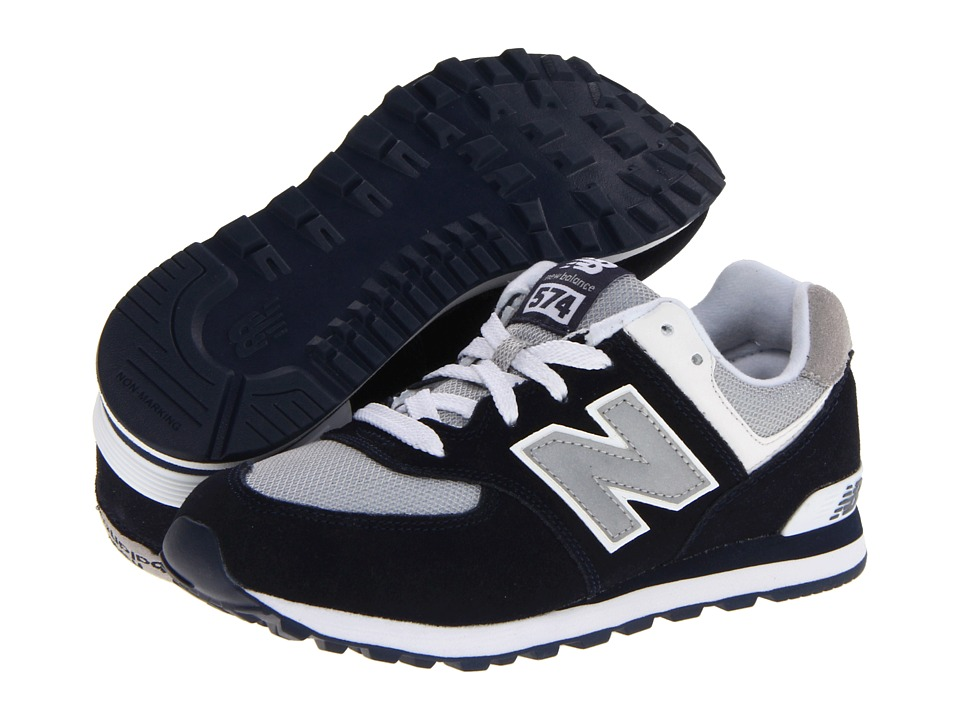 New Balance Kids - KL574 (Big Kid) (Navy) Kids Shoes