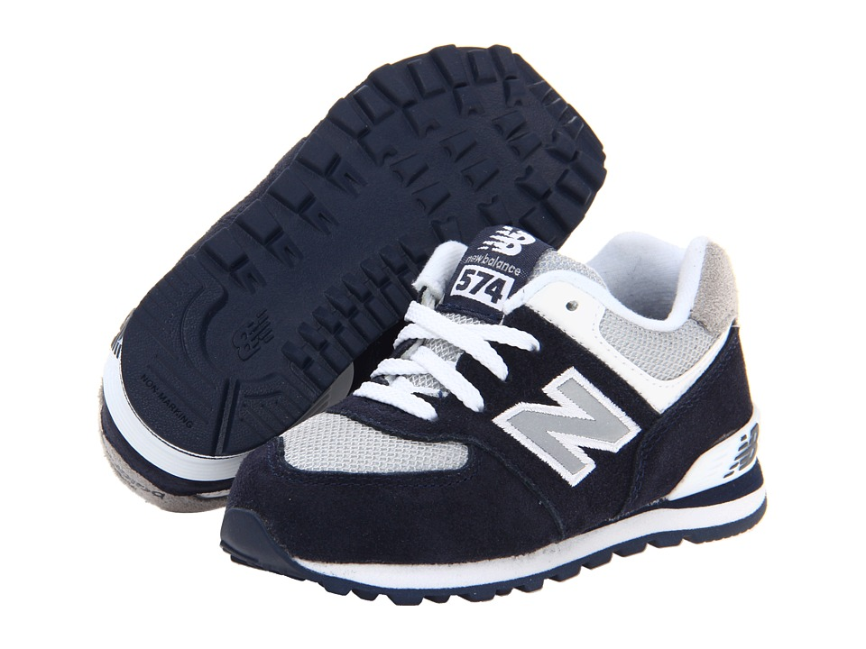 New Balance Kids - KL574 (Infant/Toddler) (Navy F13) Kids Shoes