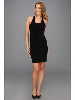 SALE! $26.99 - Save $57 on KAMALIKULTURE Racer Elastic Waist Dress (Black) Apparel - 67.87% OFF $84.00