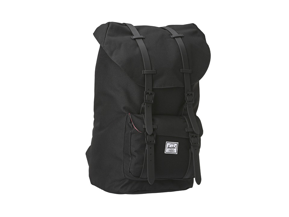 Herschel Supply Co. - Little America Weather Pack (Black Rubber) Backpack Bags