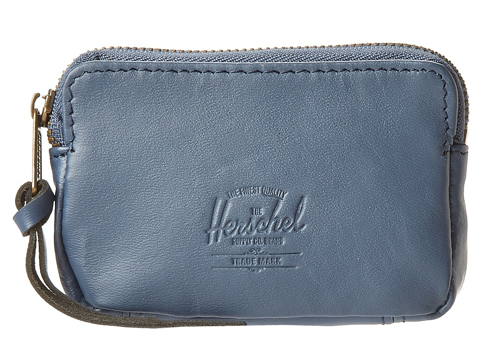 Herschel Supply Co. - Oxford Pouch (Navy Smooth Leather) Wallet Handbags