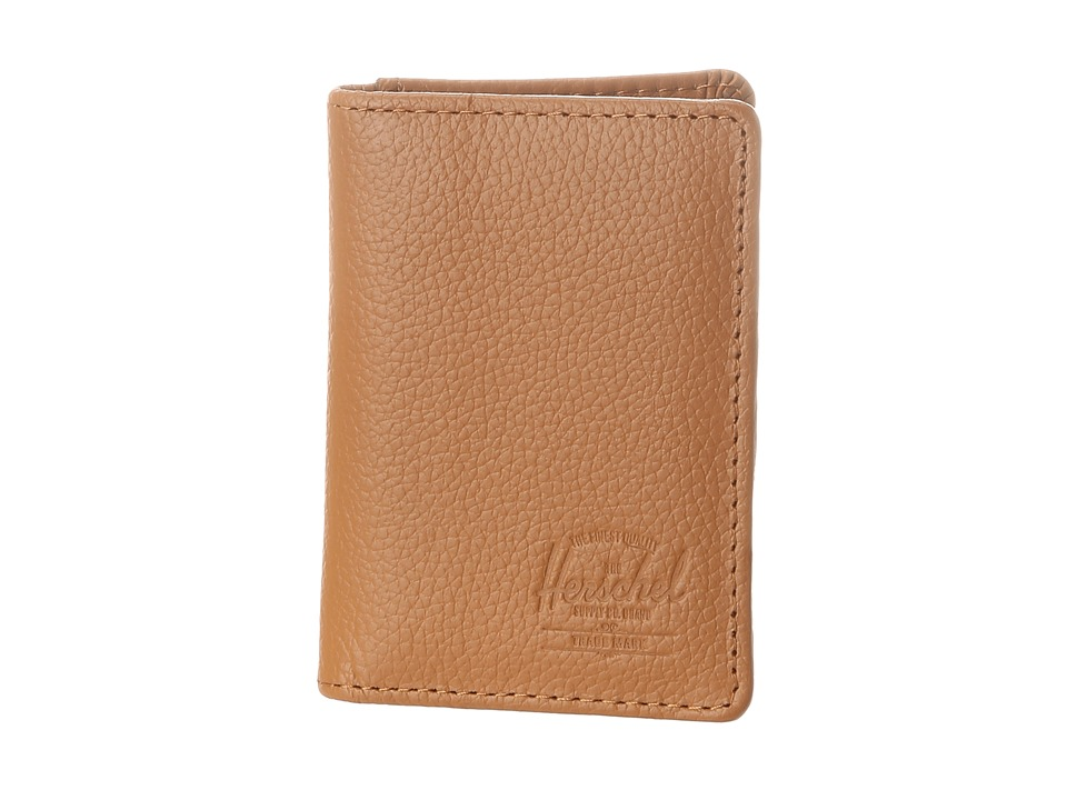 Herschel Supply Co. - Gordon (Tan Pebbled Leather) Credit card Wallet