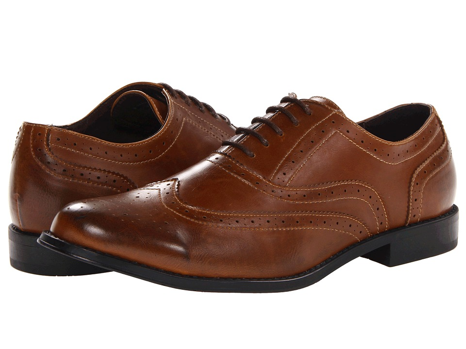 Steve Madden - M-Franky (Tan) Men's Lace Up Wing Tip Shoes