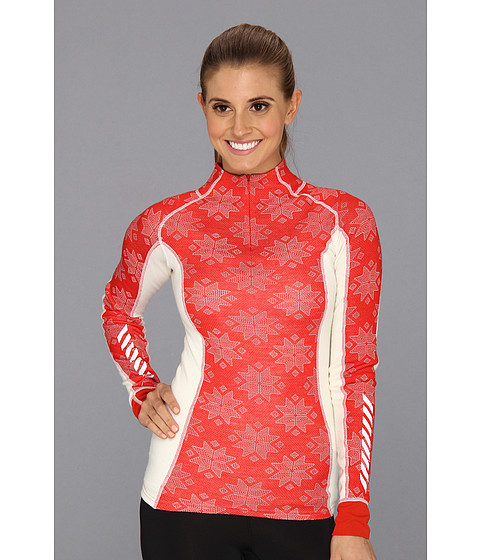 Helly Hansen - HH Warm Freeze 1/2 Zip (Alert Red/White) Girl's Long Sleeve Pullover