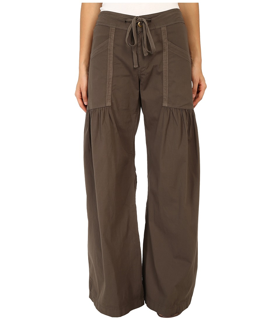 XCVI - Willowy Wide Leg Stretch Poplin Pant (Silt) Women's Casual Pants