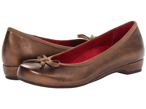 VIONIC with Orthaheel Technology Olivia Casual Flat (Bronze) Women's  Shoes