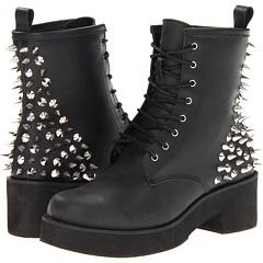 Steve Madden St Marks (Black Leather) Footwear
