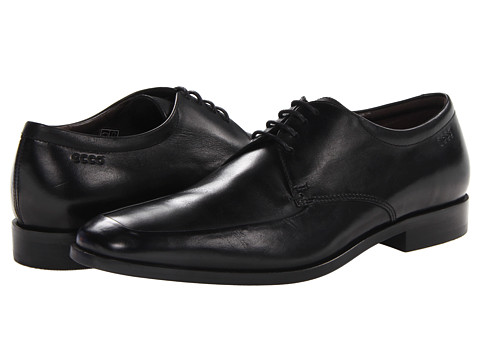 ECCO - Dacono Apron (Black Leather) Men's Shoes