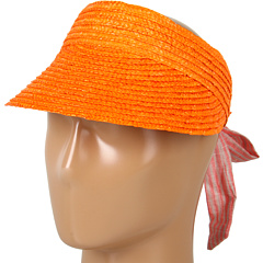 SALE! $11.99 - Save $16 on BCBGeneration Wheat Straw Visor (Guava) Hats - 57.18% OFF $28.00