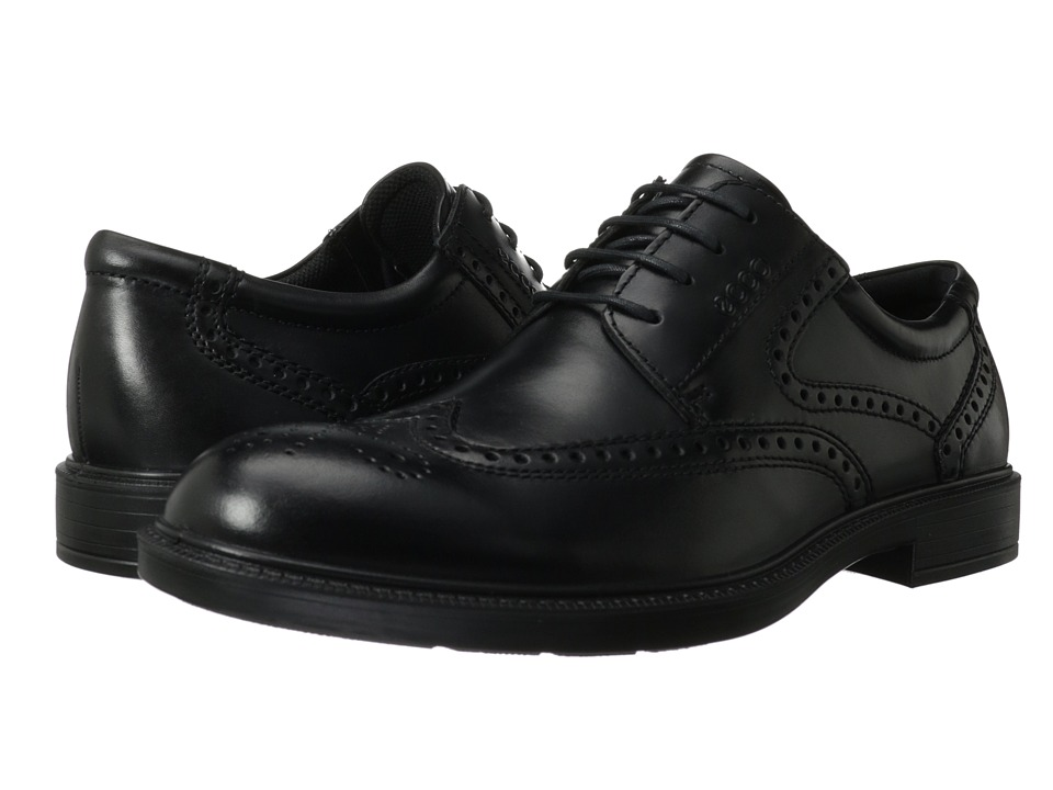 ECCO - Atlanta Wing Tip (Black Santiago) Men's Shoes