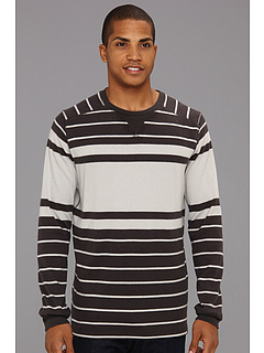 SALE! $14.99 - Save $35 on Quiksilver Snit Stripe Sweater (Dark Charcoal) Apparel - 69.72% OFF $49.50