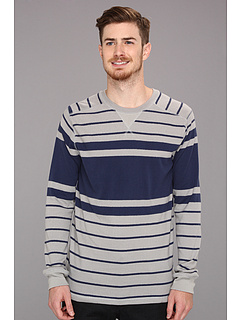 SALE! $11.99 - Save $38 on Quiksilver Snit Stripe Sweater (Haggis Grey) Apparel - 75.78% OFF $49.50