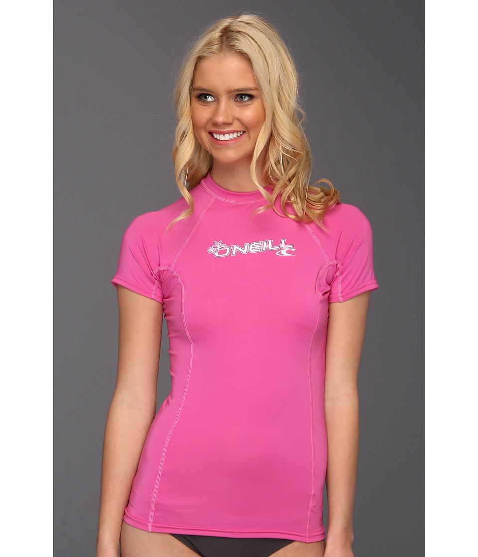 O'Neill - Basic Skins S/S Crew (Fox Pink) Women's Swimwear