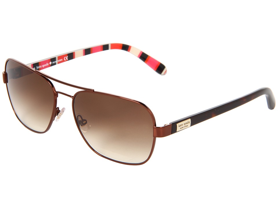 Kate Spade New York - Agda (Shiny Brown/Brown Gradient) Fashion Sunglasses