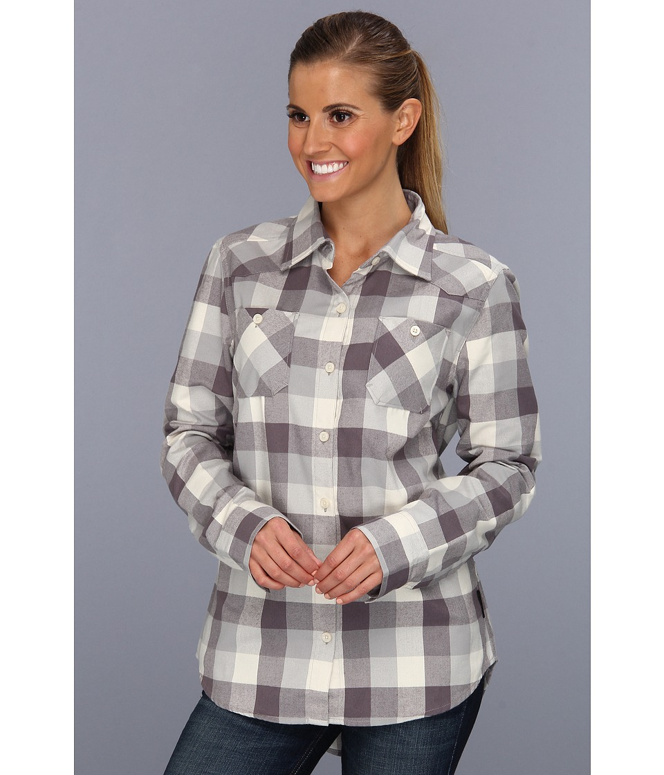 Oakley - Woodland L/S Woven (Stainless Steel) Women's Long Sleeve Button Up