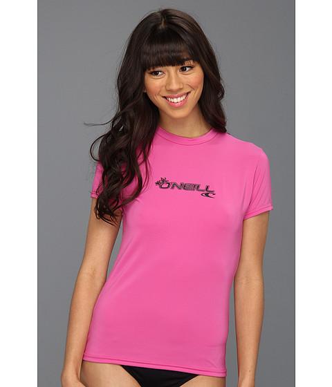 O'Neill - Basic Skins S/S Rash Tee (Fox Pink) Women's Swimwear