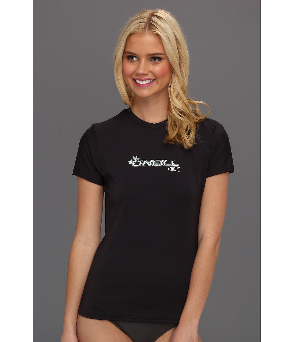 O'Neill - Basic Skins S/S Rash Tee (Black) Women's Swimwear