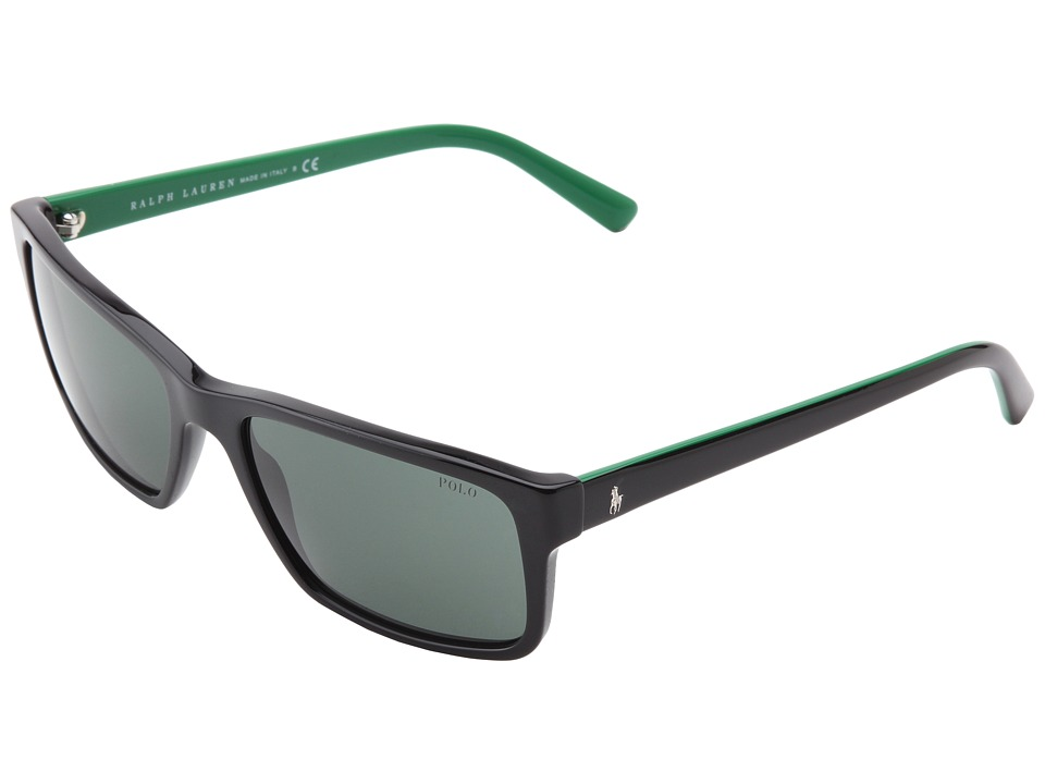 Polo Ralph Lauren - 0PH4076 (Shiny Black) Plastic Frame Fashion Sunglasses