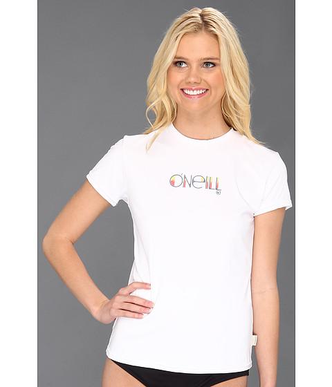 O'Neill - Skins S/S Rash Tee (White) Women's Swimwear