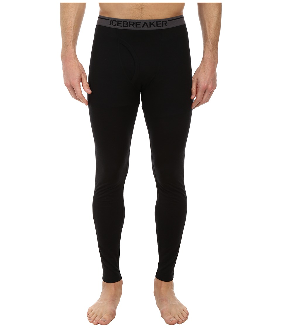 Icebreaker - Anatomica Leggings w Fly (Black) Men's Clothing