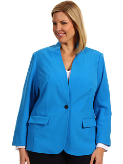 SALE! $66.99 - Save $98 on Vince Camuto Plus Size Inverted Notch Blazer (Malibu Blue) Apparel - 59.40% OFF $165.00