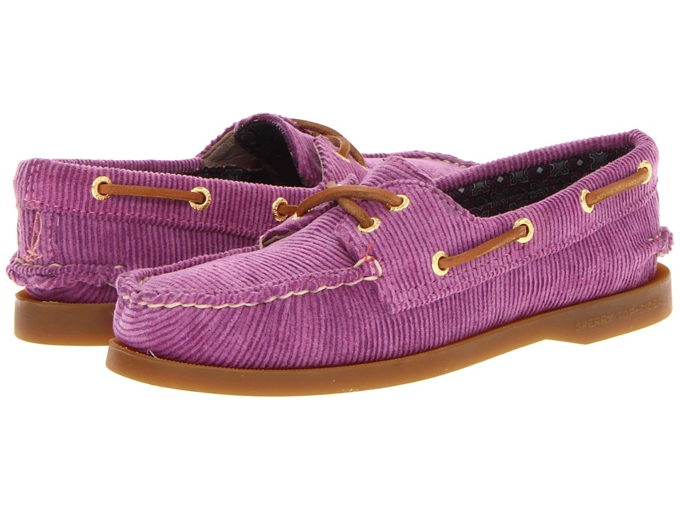 Sperry Top-Sider - A/O 2 Eye (Berry Washed Corduroy) Women's Lace up casual Shoes