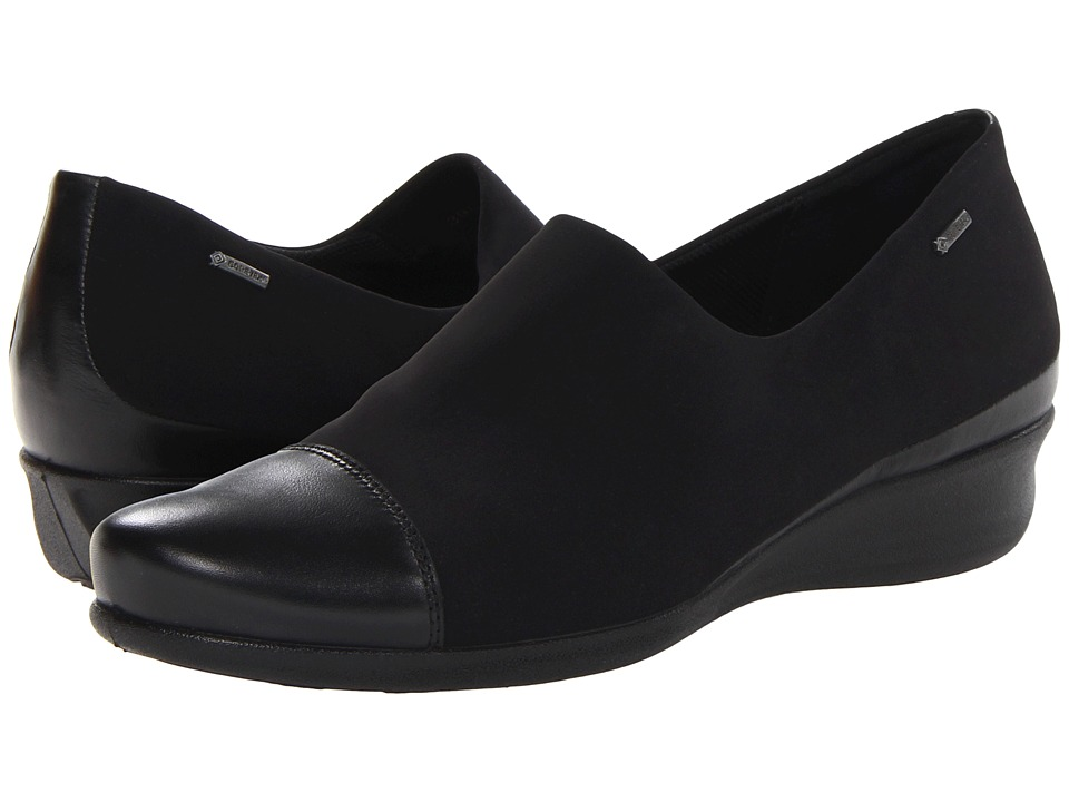 ECCO - Abelone GTX Slip On (Black/Black) Women's Shoes