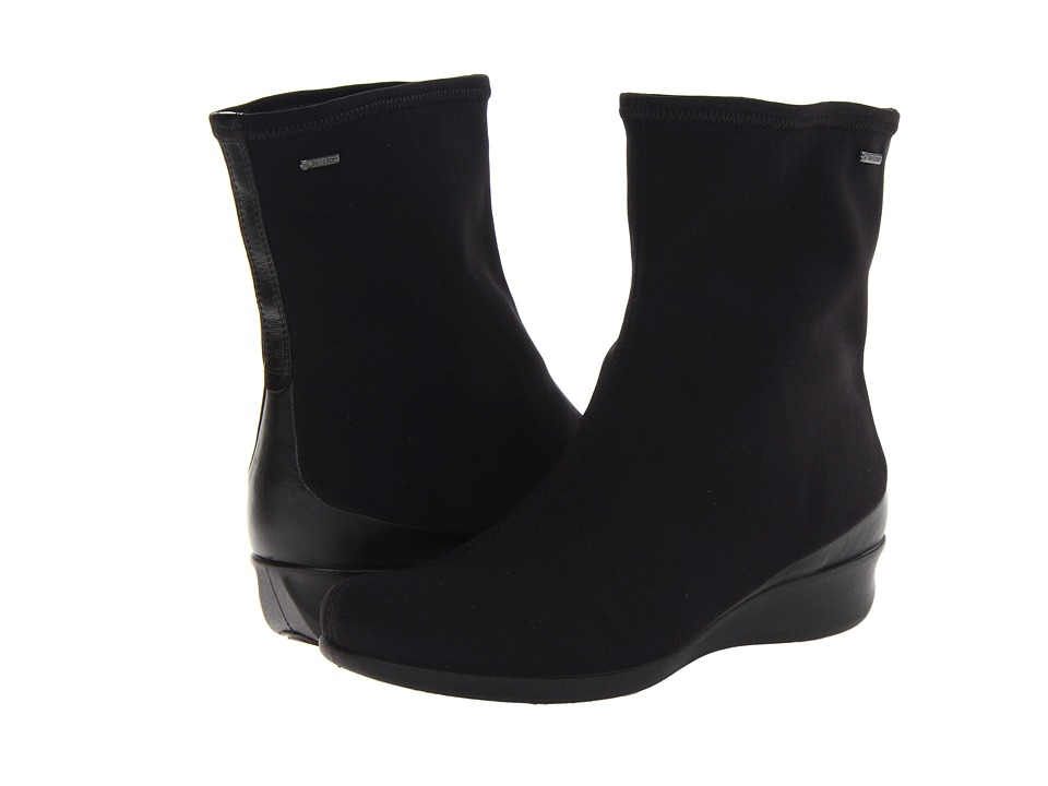 ECCO Abelone Short Boot (Black/Black) Women