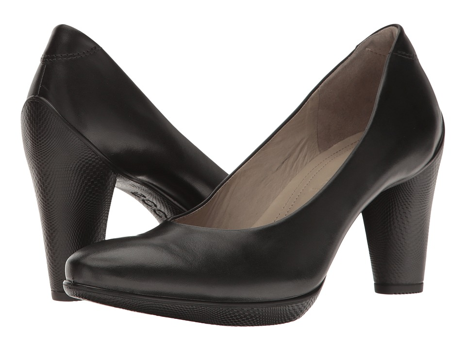 ECCO - Sculptured 75 Pump (Black Old West) High Heels