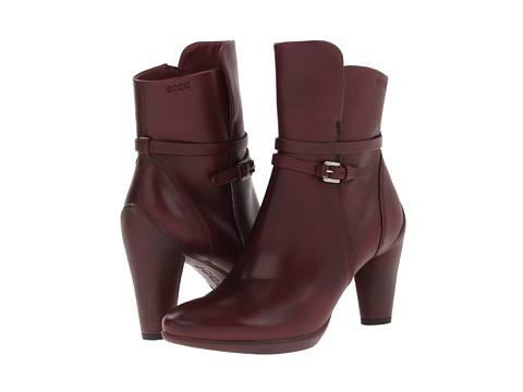 ECCO Sculptured 75 Ankle Boot (Bordeaux Old West) Women's Boots