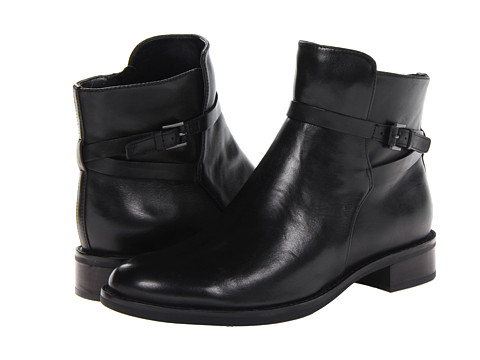 ECCO - Hobart 25 MM Strap Ankle Boot (Black Soft Touch) Women's Boots