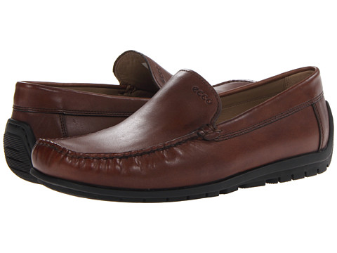 ECCO - Soft Slip-On (Cognac) Men's Slip on Shoes