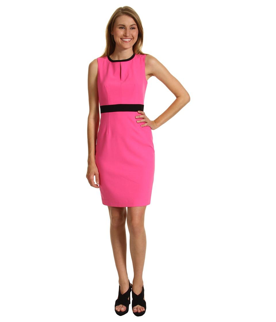 Calvin Klein Sleeveless Keyhole Sheath Dress Womens Dress (Pink)